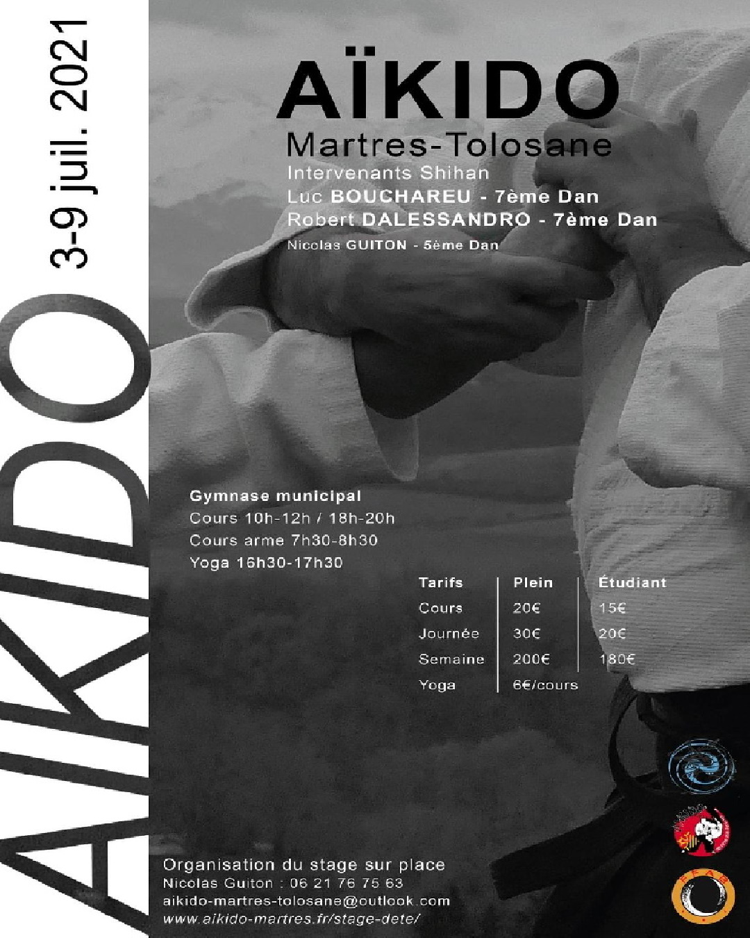 Stage Aikido Martres-Tolosane Juillet 2021